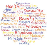 Beauty. Info-text concept word cloud, vector illustration Stock Photography