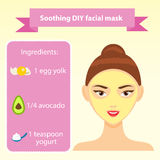 Beauty infographics for woman. Five steps for healthy skin. Beauty infographics for woman and girls. Healthy skin in five steps Stock Image