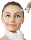 Beauty Injection of botox Royalty Free Stock Image
