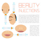 Beauty injections treatment Stock Image