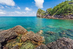 Beauty Island on daylight summer season Royalty Free Stock Photo