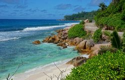 The beauty of island in Seychelles Royalty Free Stock Photos