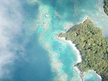 Beauty island from the sky stock photography