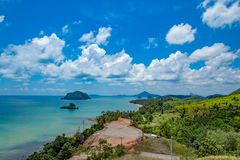 The beauty of the islands in the sea and sky at Sairee Sawee Beach.