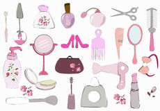 Beauty items Royalty Free Stock Photography