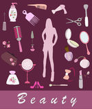 Beauty items Royalty Free Stock Photo