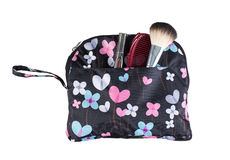 Beauty kit handbag Stock Photography