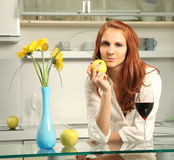 Beauty in kitchen Royalty Free Stock Images
