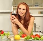 Beauty in kitchen Stock Photo