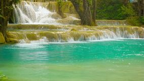 Beauty Kouang Si Waterfall, Laos, Luang Prabang stock footage