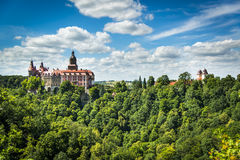 Beauty of Ksiaz Castle. Poland Royalty Free Stock Image
