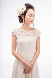 Beauty in lace dress Stock Photos