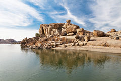 Beauty lake in Hampi Royalty Free Stock Photos