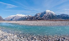 Beauty landscape of mountains and river. Royalty Free Stock Image