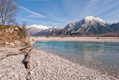 Beauty landscape of mountains and river. Royalty Free Stock Images