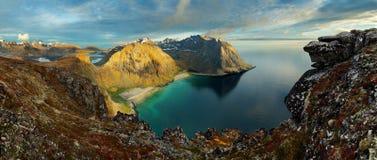 Beauty Landscape in Norway, Lofoten beach Stock Image