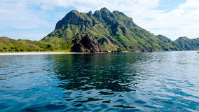 The Beauty Landscape of Padar Island From the Sea Stock Photo