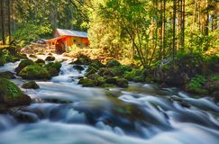 Beauty landscape with river and forest in Austria, Golling Royalty Free Stock Photos