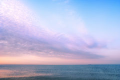 Beauty landscape with sunrise over sea Stock Photo