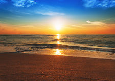 Beauty landscape with sunrise. Over sea Royalty Free Stock Image