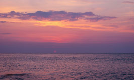 Beauty landscape with sunrise over sea Stock Photography