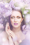 Beauty in lilac Royalty Free Stock Photography