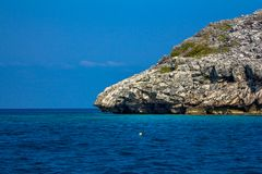 Beauty limestone rock in the ocean Royalty Free Stock Photography