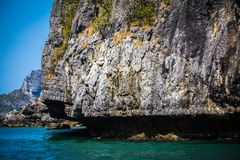 Beauty limestone rock in the ocean Stock Photography