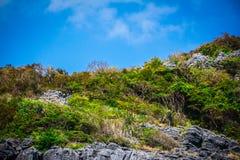 Beauty limestone rock in the ocean Royalty Free Stock Image