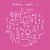 Beauty Line Icons vector illustration