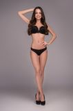 Beauty in lingerie. Full length of beautiful Stock Photography