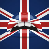 Beauty Lips with United Kingdom Flag Makeup. English fashion Design Royalty Free Stock Images