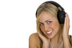beauty listening Στοκ εικόνα με δικαίωμα ελεύθερης χρήσης