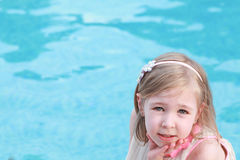 Beauty little blonde girl Royalty Free Stock Images