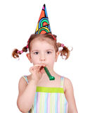 Beauty little girl birthday Stock Images