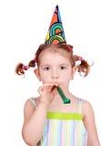 Beauty little girl birthday Stock Images