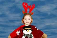 Beauty little girl Christmas Royalty Free Stock Photos