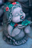 Beauty little girl. Make from sandstone stock photo
