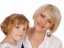 Beauty little girl with mother Royalty Free Stock Photography