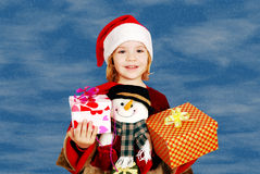 Beauty little girl Santa Claus Royalty Free Stock Images
