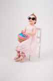 Beauty little Girl with toy cake Royalty Free Stock Photo