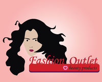 Beauty logo. Illustration , beauty girl, nice logo Stock Photography