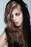 Beauty with long blond hair royalty free stock images
