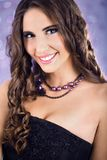 Beauty with long curly hair Royalty Free Stock Image