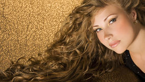 Beauty with long hair Stock Images