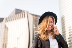 Beauty look and urban fashion. royalty free stock image