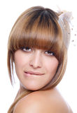 Beauty with lovely hair Stock Images
