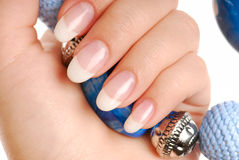 Beauty and luxury of nails stock photo