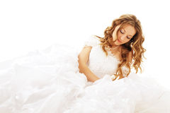 Beauty lying bride Stock Image