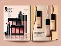 Beauty magazine design stock illustration